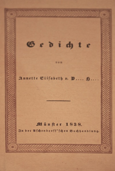 Annette Von Droste Hülshoff 1826 1840 Stille Erfolge Im