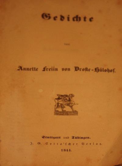 Annette Von Droste Hülshoff 1844 1848 Letzte Jahre